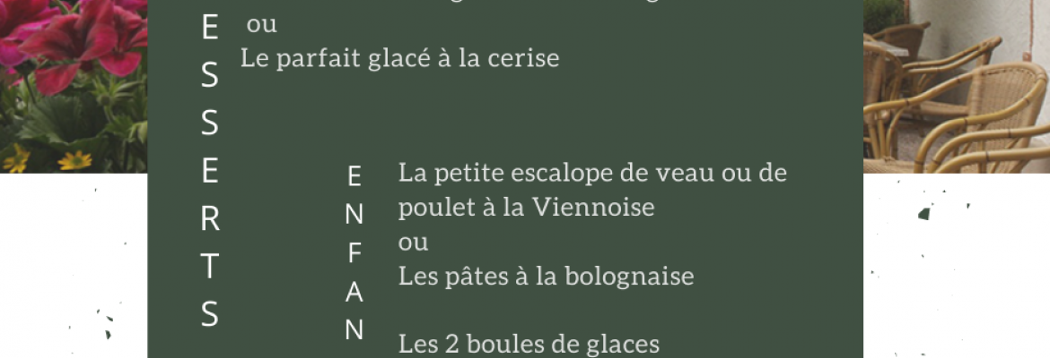 Menu  Ecuries du Parc  3